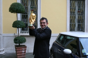 Ilker with the World Cup Trophy